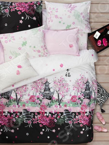Zakazat.ru: Комплект постельного белья Сова и Жаворонок «Сакура». Семейный