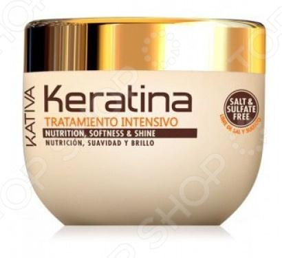 Маска восстанавливающая с кератином для поврежденных и хрупких волос Kativa kocostar маска восстанавливающая для поврежденных волос конский хвост ggong ji hair pack 8 мл