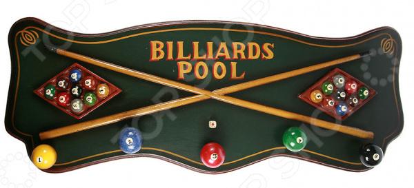 Коллаж настенный с крючками Billiards Pool - артикул: 941026
