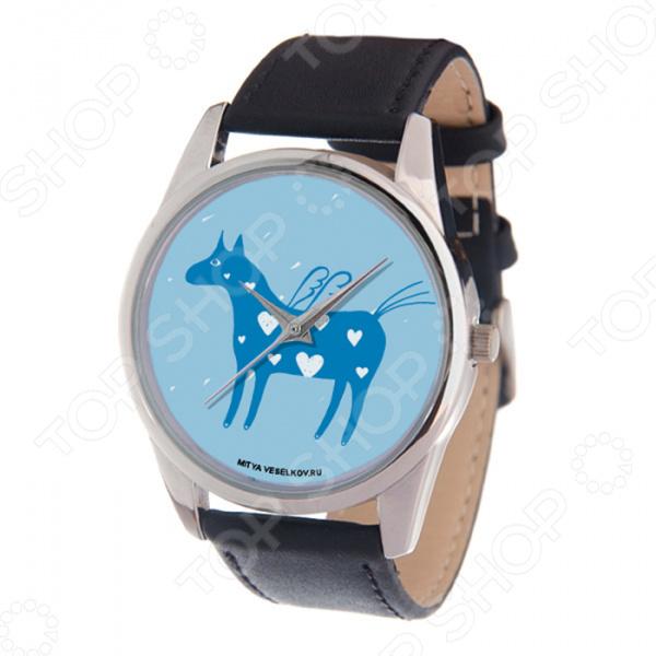 Часы наручные Mitya Veselkov «Крылатая лошадка на голубом»