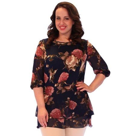 Купить Блуза Элеганс «Дионисия». Цвет: темно-синий