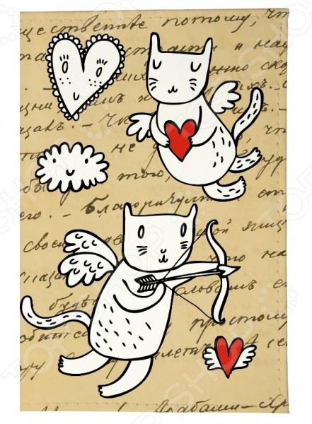 Обложка для паспорта Mitya Veselkov «Коты-амуры» OZAM358 чехол для iphone 6 mitya veselkov коты амуры ip6 201