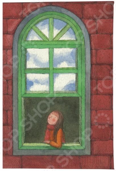 Обложка для паспорта кожаная Mitya Veselkov «Девушка в зеленом окне»