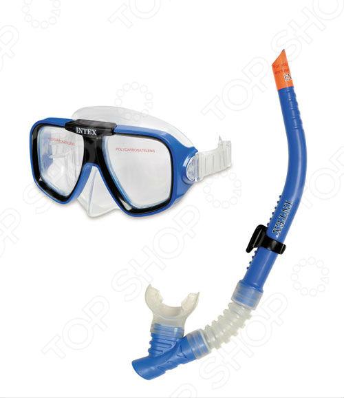 Набор для плавания: маска и трубка Intex «Пловец по подводным скалам» пловец