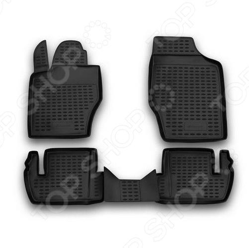 Комплект ковриков в салон автомобиля Novline-Autofamily Peugeot 307 2001-2008 коврики в салон peugeot 3008 2008 ун 4 шт текстиль nlt 38 19 22 110kh