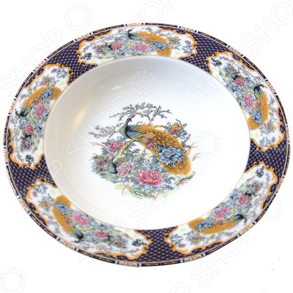 Набор суповых тарелок Elan Gallery Павлин на золоте красочная посуда с высококачественным покрытием, которая внесет разнообразие в сервировку семейного стола. Станет отличным подарком для любителей стильных вещей. Материал абсолютно безопасен и не вступает в реакцию с продуктами, а так же не влияет на запах и вкус.