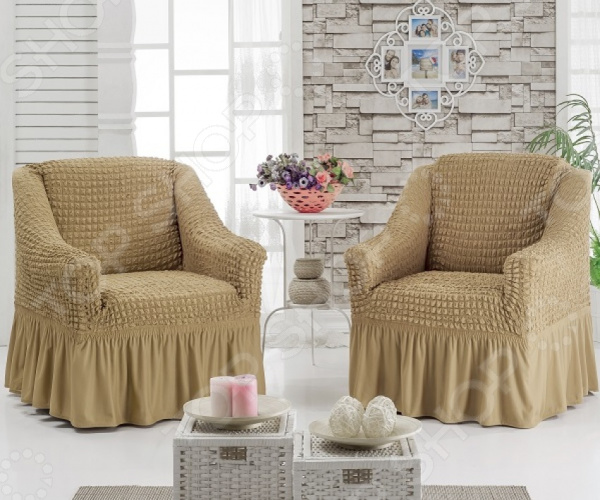 Zakazat.ru: Комплект чехлов на 2 кресла Karbeltex с оборкой