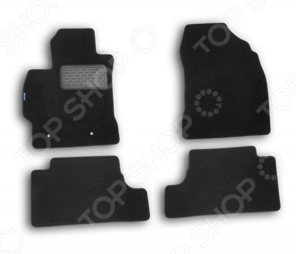 Комплект ковриков в салон автомобиля Novline-Autofamily Toyota Corolla 2007 седан. Цвет: черный чехол на сиденье skyway toyota corolla седан ty2 2