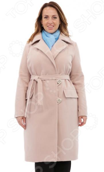 Пальто СВМ-ПРИНТ «Француженка». Цвет: бежевый