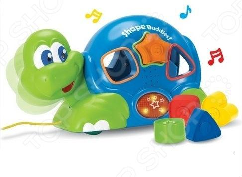 Игрушка-сортер музыкальная Keenway «Черепашка с паззлами» игрушка музыкальная keenway слоник трубач