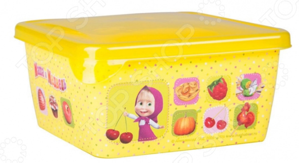 Детская емкость для хранения «Маша и Медведь» 0616007 емкость для хранения маша и медведь mini с крышкой цвет желтый 750 мл