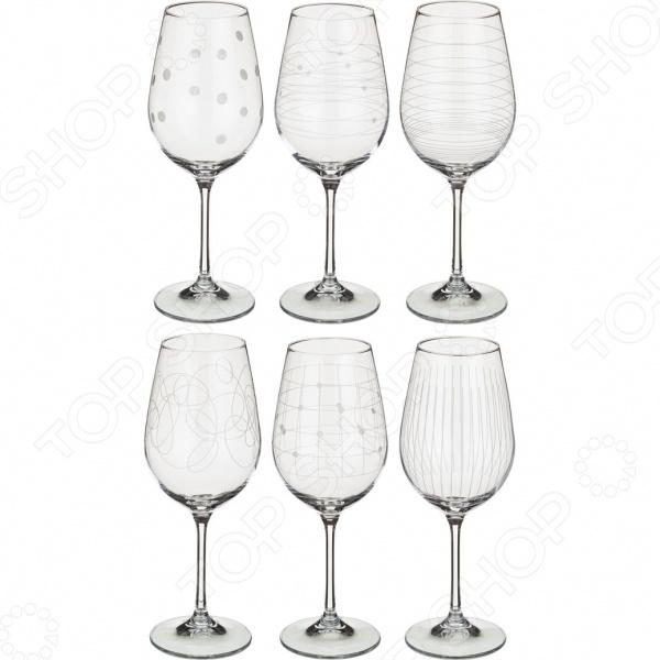 Набор бокалов для вина Bohemia Crystal «Виола микс» 674-417 набор бокалов для вина коралл 40729 00000 550 виола