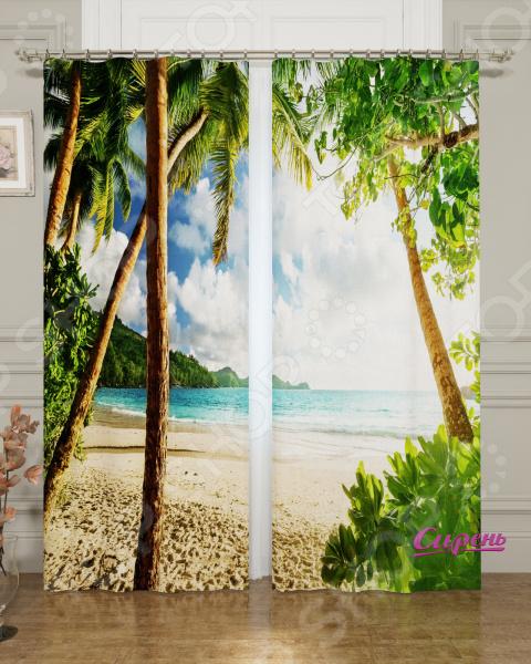 цена на Фотошторы блэкаут Сирень «Сейшельские острова»