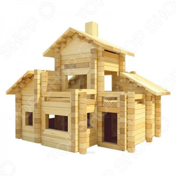 Конструктор деревянный Лесовичок «Разборный домик №6» конструктор лесовичок разборный домик 3 из 150 деталей les 003