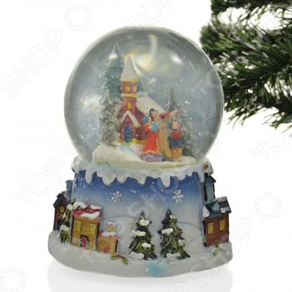 Снежный шар музыкальный Crystal Deco «Рождественское пение»