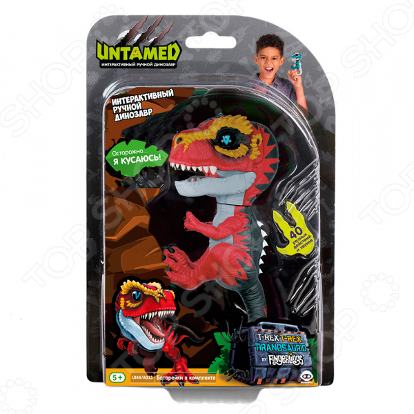 Игрушка интерактивная Fingerlings «Динозавр Рипси»