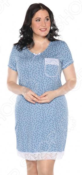 Ночная сорочка El Fa Mei «Сказочный сон». Цвет: синий