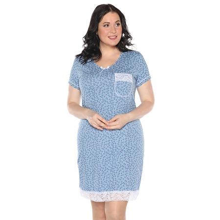 Купить Ночная сорочка El Fa Mei «Сказочный сон». Цвет: синий