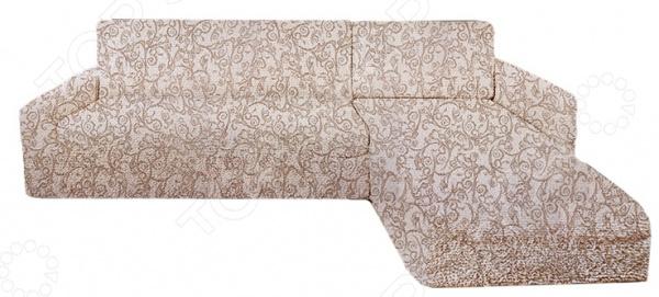 Zakazat.ru: Натяжной чехол на угловой диван с выступом справа Еврочехол «Виста. Антея»