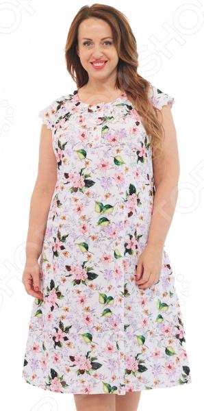 Сорочка Алтекс «Цветущая яблоня». Цвет: белый
