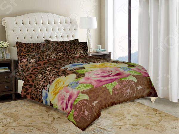 Комплект постельного белья «Цветочный микс». Евро