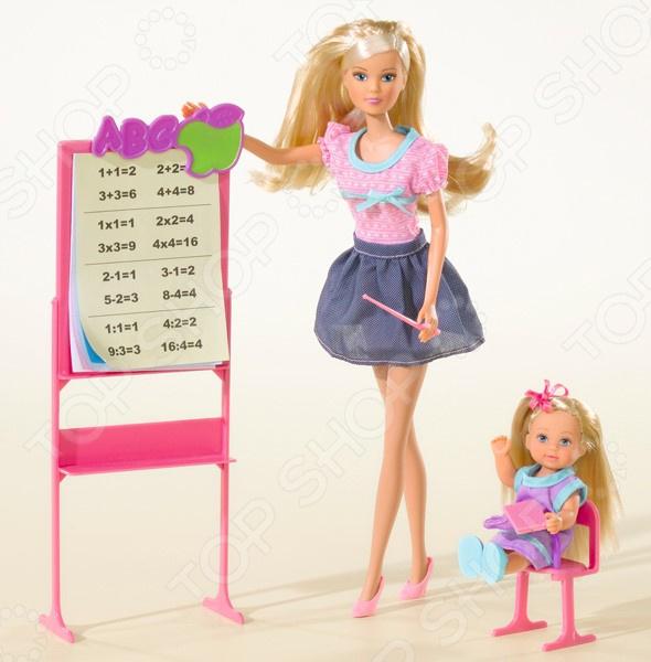 Набор кукол Simba «Штеффи - учитель и Еви - ученица» simba набор кукол штеффи и еви мир животных