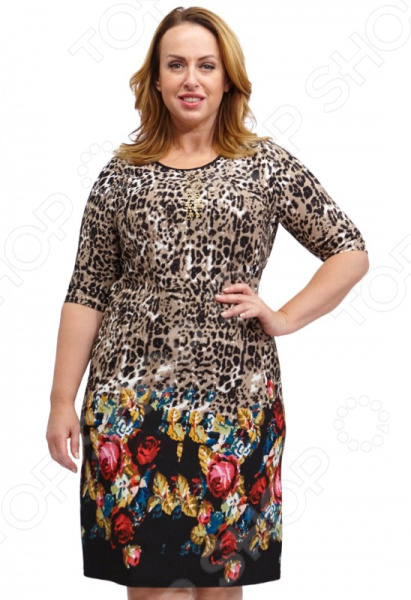 Платье Лауме-стиль «Роскошная красавица». Цвет: коричневый