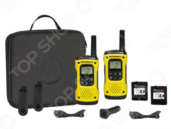 Комплект из двух раций Motorola TLKR-T92 H20 радиостанция motorola tlkr t80ext комплект из двух радиостанций mt125