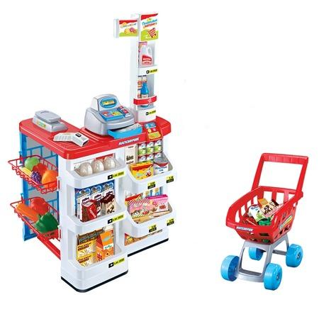 Купить Игровой набор для девочки Zhorya «Магазинчик с тележкой и аксессуарами». В асортименте