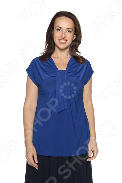 Блуза VEAS «Строгий лоск». Цвет: васильковый блуза