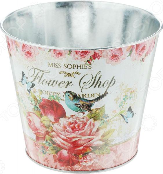 где купить  Кашпо-ведерко Gift'n'home «Розы»  по лучшей цене