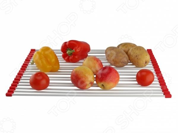 Сетка-сушилка для раковин Ruges «Сушка» сушка для посуды и продуктов ругес водосток цвет светло зеленый серый металлик