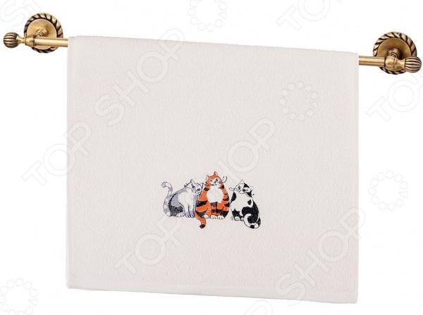 Полотенце махровое Santalino «Кошачьи посиделки» 850-330-34