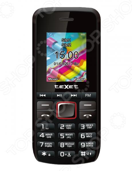 Мобильный телефон Texet TM-203 мобильный телефон texet tm 203 black red черный красный tm 203 bkr