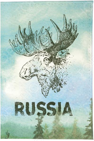 Визитница Mitya Veselkov «Лось» лазарева и лось в облаке