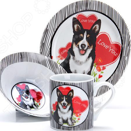 Набор посуды для детей Loraine LR-27114 «Собачка»