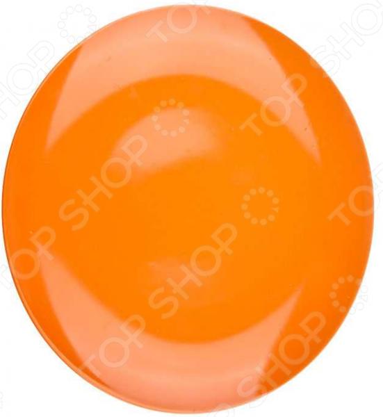 Тарелка десертная Miolla однотонная. Цвет: оранжевый тарелка десертная miolla изящество