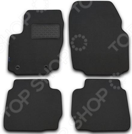 Комплект ковриков в салон автомобиля Novline-Autofamily Cadillac SRX 2010. Цвет: серый молдинги cadillac 10 15 srx srx 4s