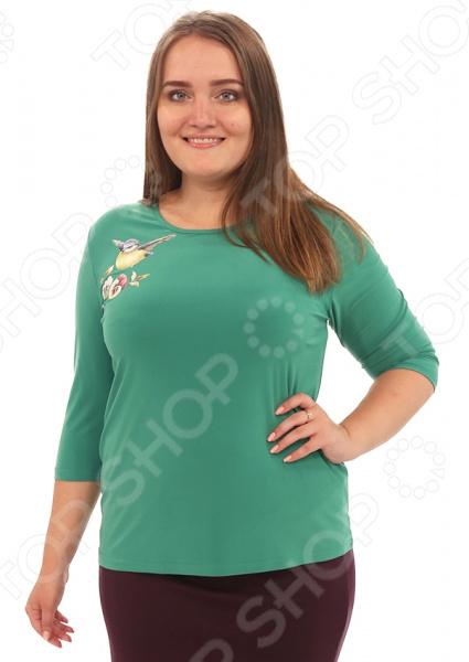 Блуза Лауме-Лайн «Перелетная птица». Цвет: зеленый блуза лауме лайн перелетная птица цвет черный
