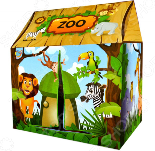 Палатка игровая Наша Игрушка «Зоопарк»