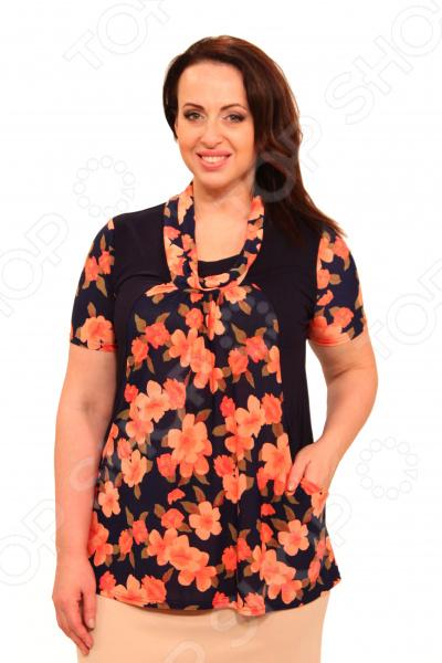 Блуза Матекс «Персиковая сладость». Цвет: персиковый
