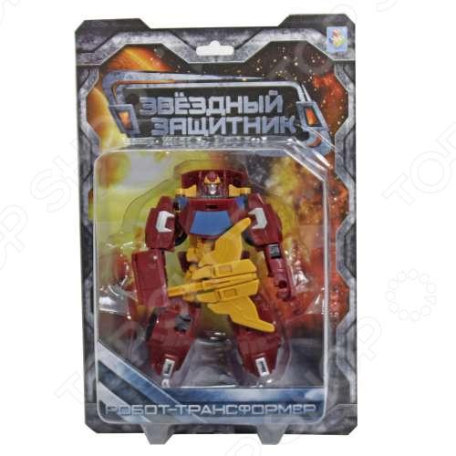 Игрушка-трансформер 1 Toy «Звездный защитник» Т59368 трансформер 1 toy звездный защитник космолет красный черный