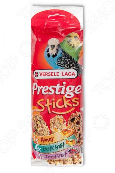 Лакомство для волнистых попугаев Versele-Laga Prestige «Палочки микс с медом, фруктами и ягодами» корм для птиц versele laga budgies для волнистых попугаев 1кг