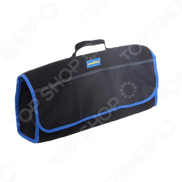 Сумка-органайзер в багажник Goodyear из карпета большая