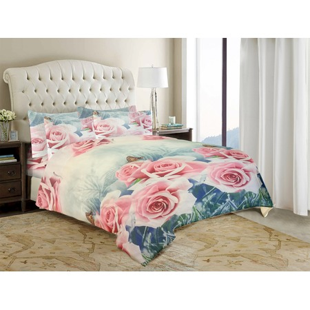 Комплект постельного белья «Розы любви». Евро