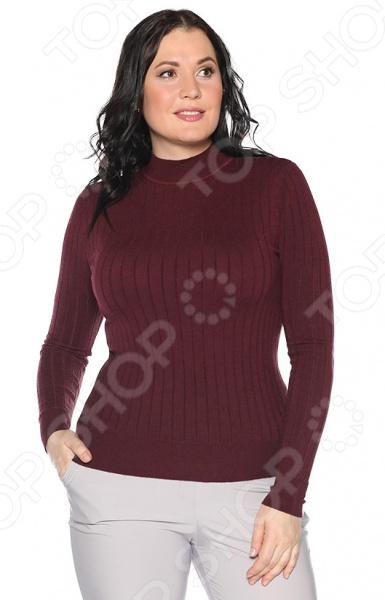 Водолазка Milana Style «Привычный уют». Цвет: бордовый milana style milana style mi038ewivh60