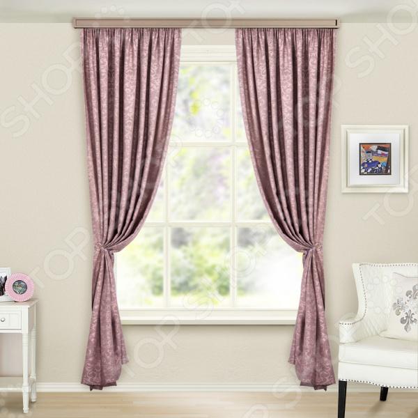 Портьеры WITERRA «Софт». Цвет: какао, пыльная роза шторы томдом классические шторы менак цвет пыльная роза