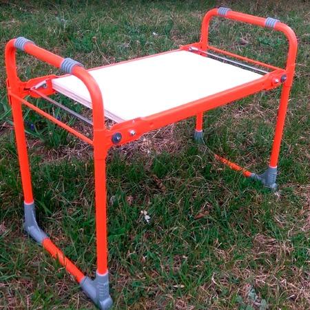 Купить Скамейка садовая Ника с мягким сиденьем