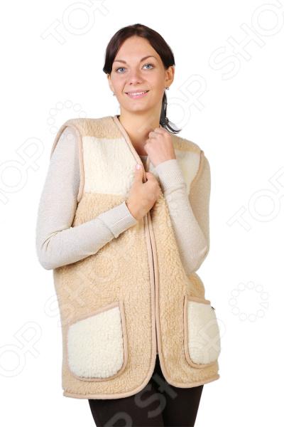Жилет утепленный WoolHouse С.2.2.М. Цвет: бежевый, белый жилет утепленный мужской woolhouse матео