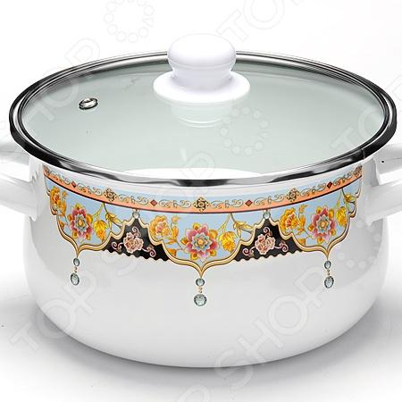 Кастрюля с крышкой Mayer&Boch «Узоры» посуда кухонная